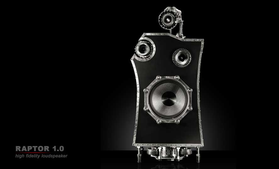 Raptor 1.0, high fidelity loud speaker, front view